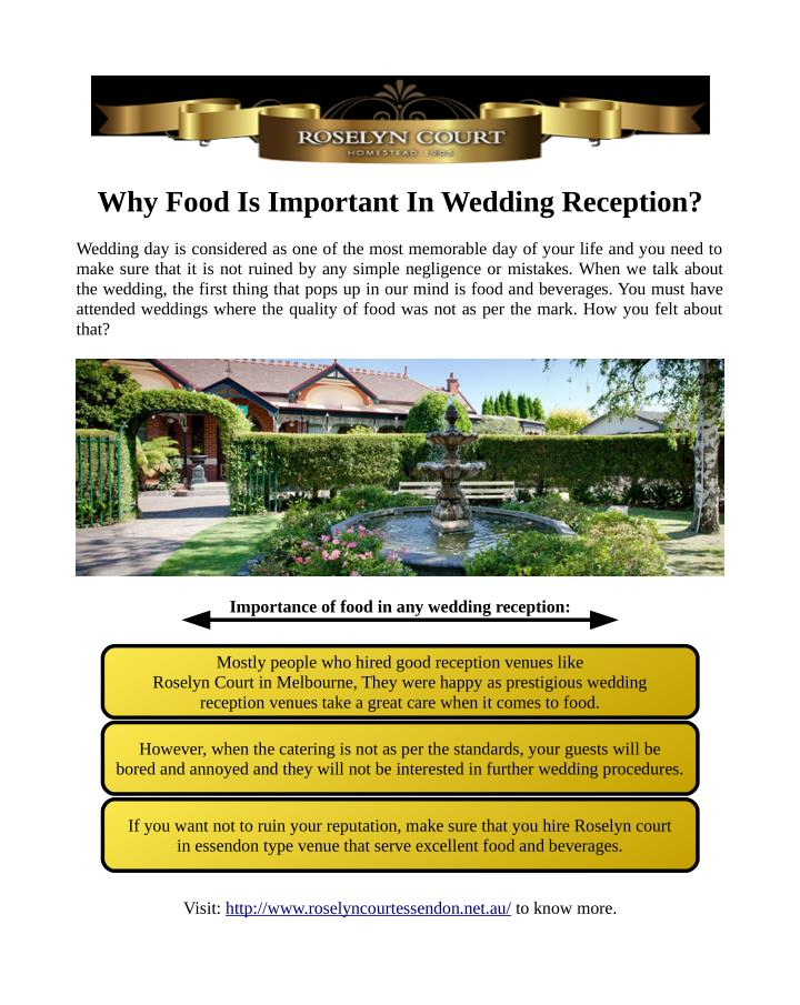 Why Food Is Important In Wedding Reception?