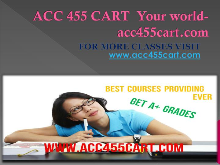 Acc 455 cart your world acc455cart com