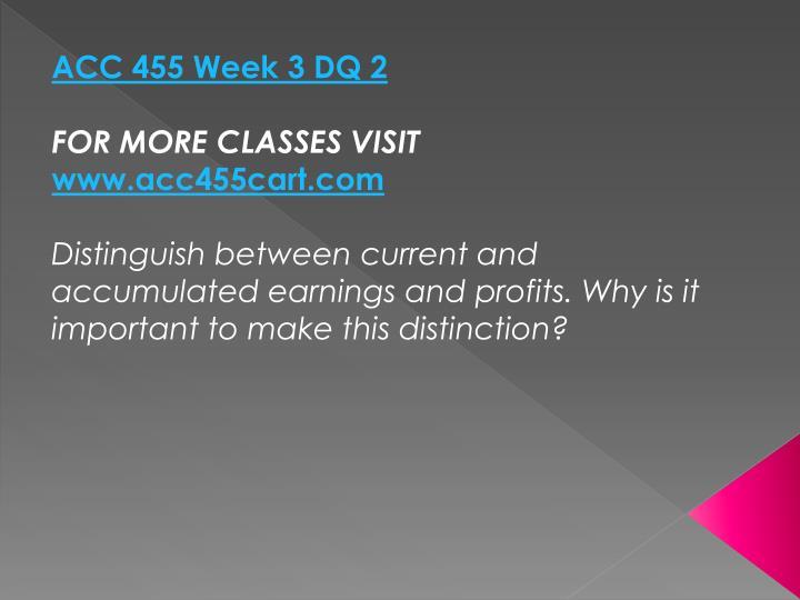 ACC 455 Week 3 DQ 2