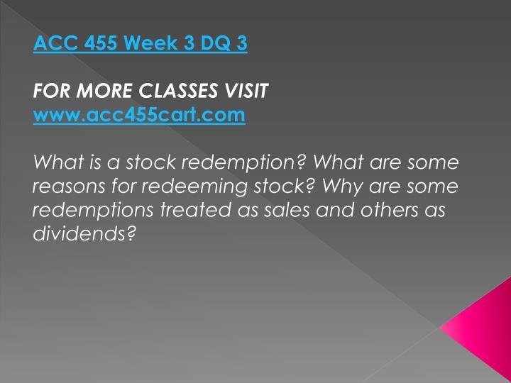 ACC 455 Week 3 DQ 3