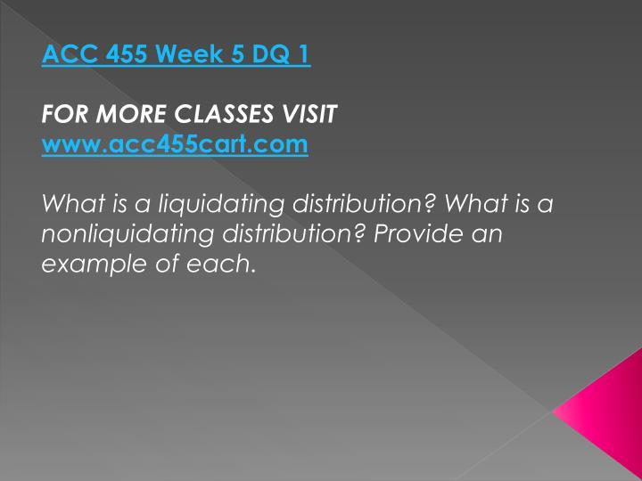 ACC 455 Week 5 DQ 1