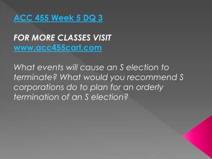 ACC 455 Week 5 DQ 3