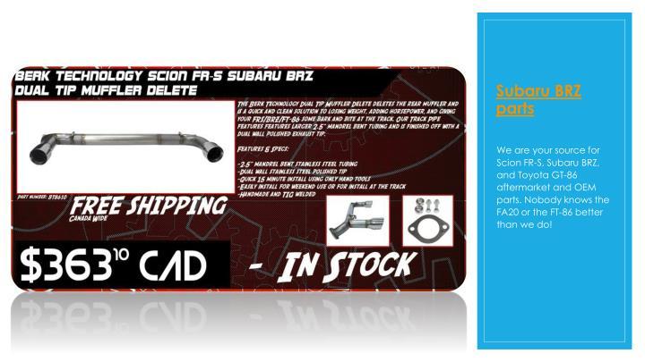 Subaru BRZ parts