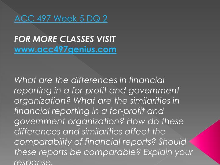 ACC 497 Week 5 DQ 2