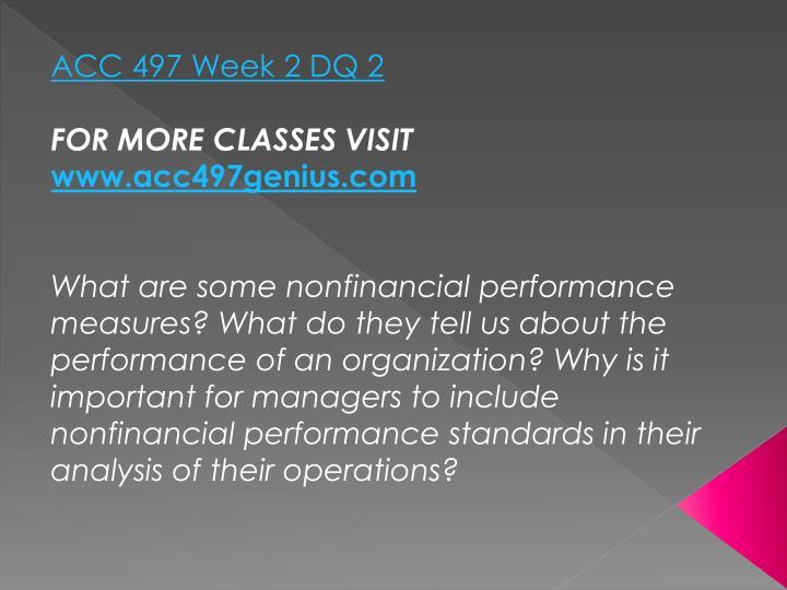 ACC 497 Week 2 DQ 2