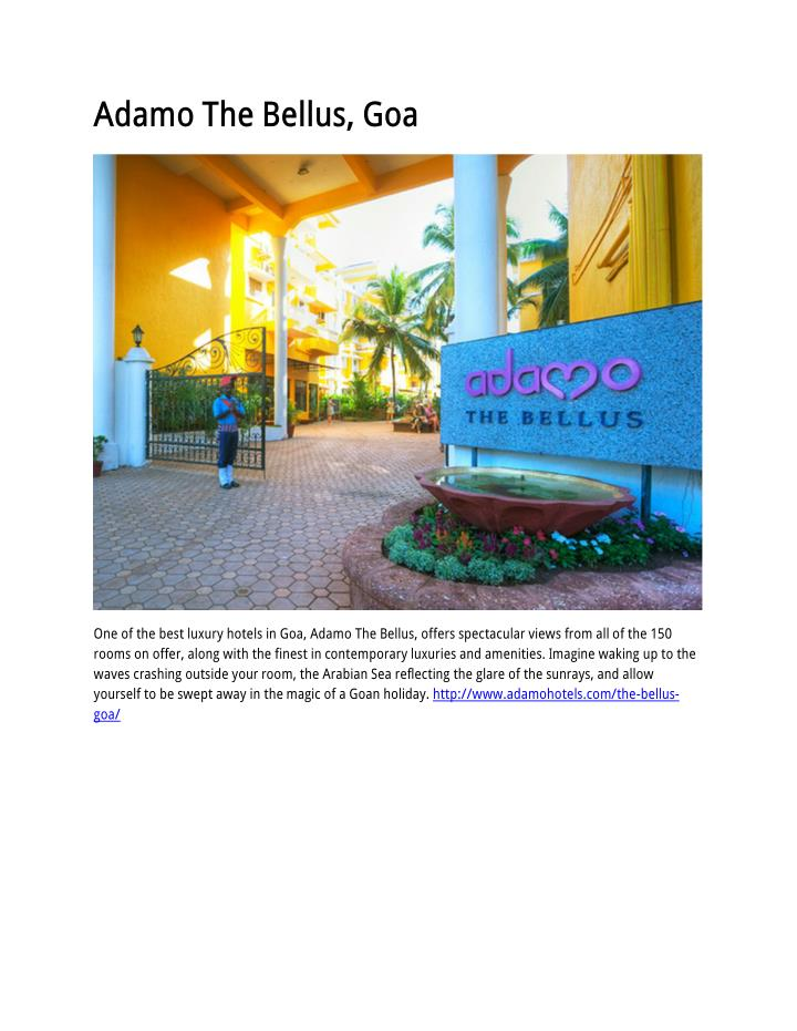 Adamo The Bellus, Goa