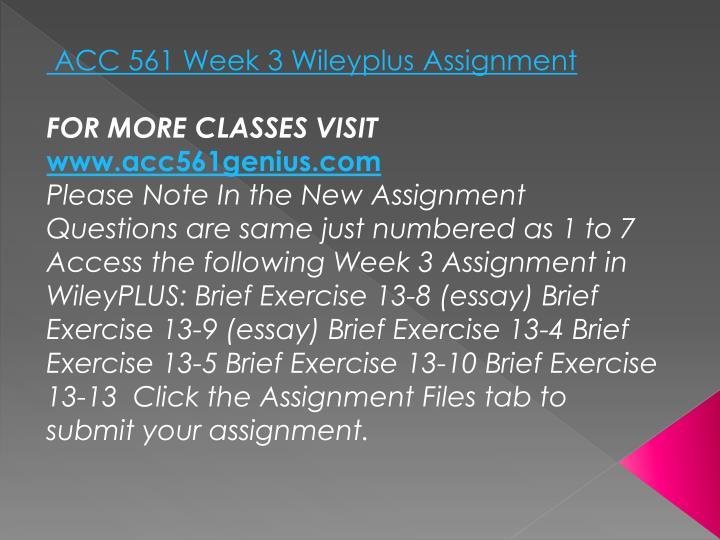 ACC 561 Week 3