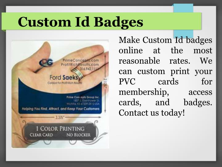 Custom Id Badges
