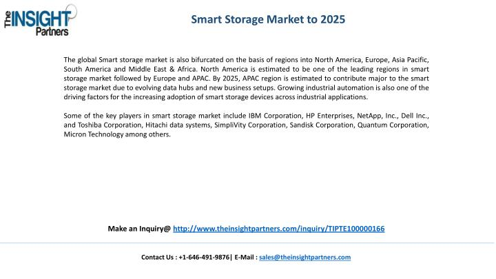 Smart Storage Market to 2025