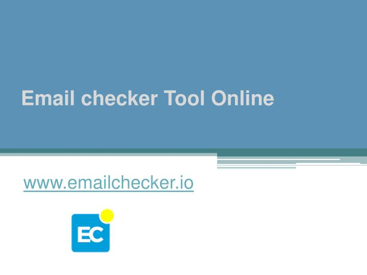 email checker tool online