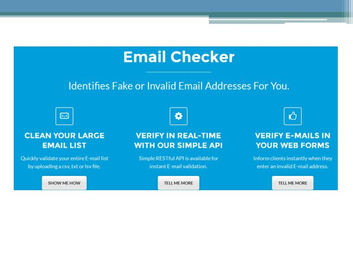 Email checker tool online www emailchecker io