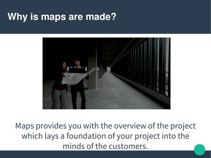 Why is maps are made?