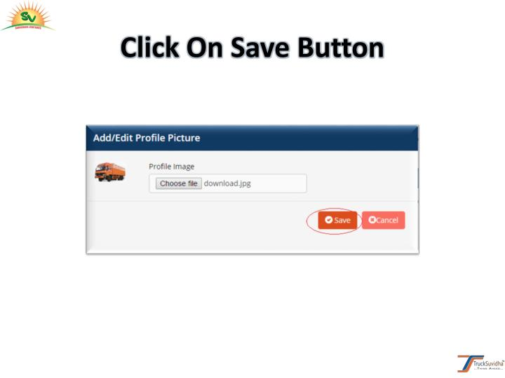 Click On Save Button