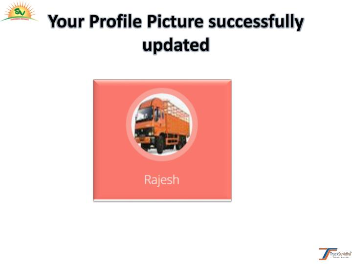 Your Profile Picture successfully
