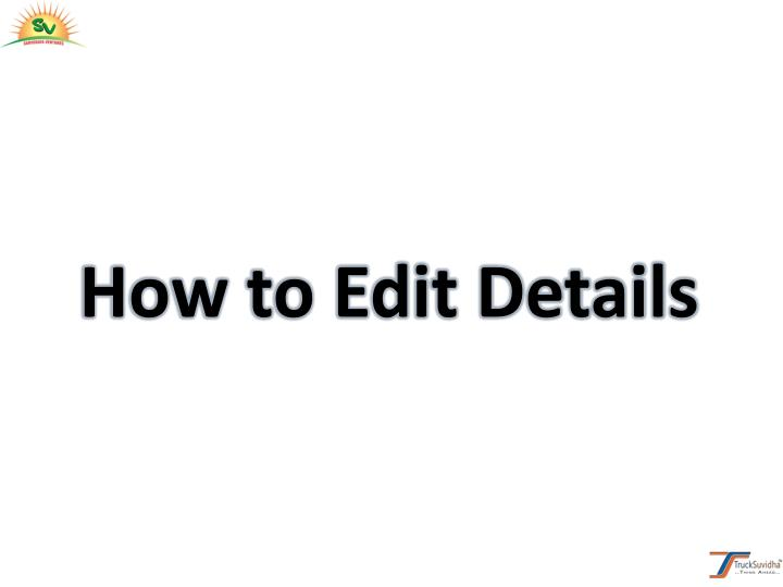 How to Edit Details