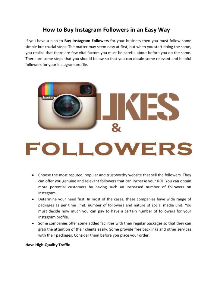 How to Buy Instagram Followers in an Easy Way