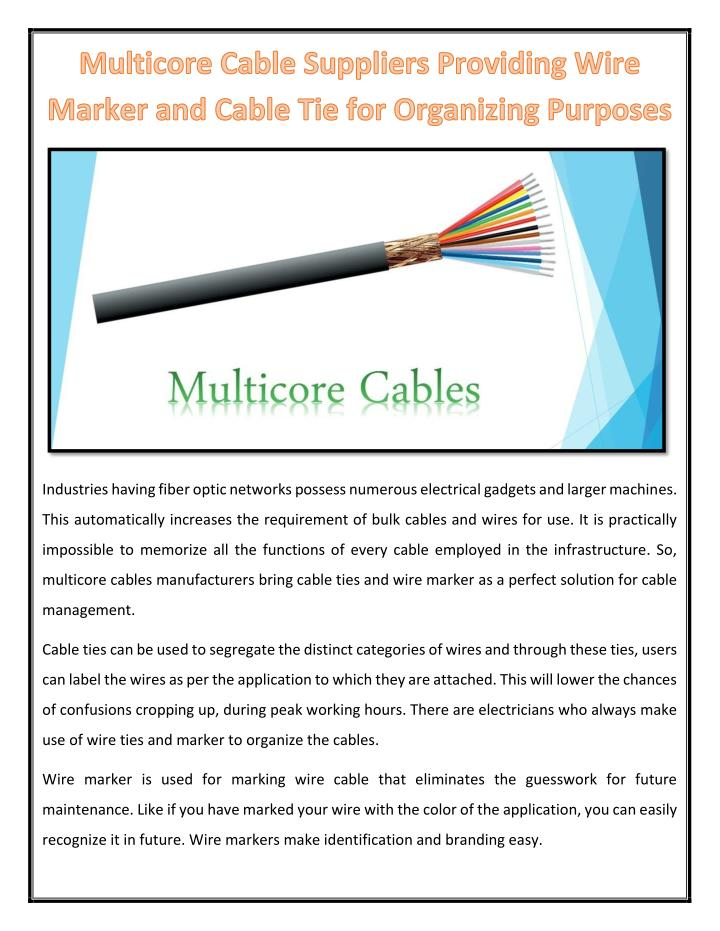Industries having fiber optic networks possess numerous electrical gadgets and larger machines.