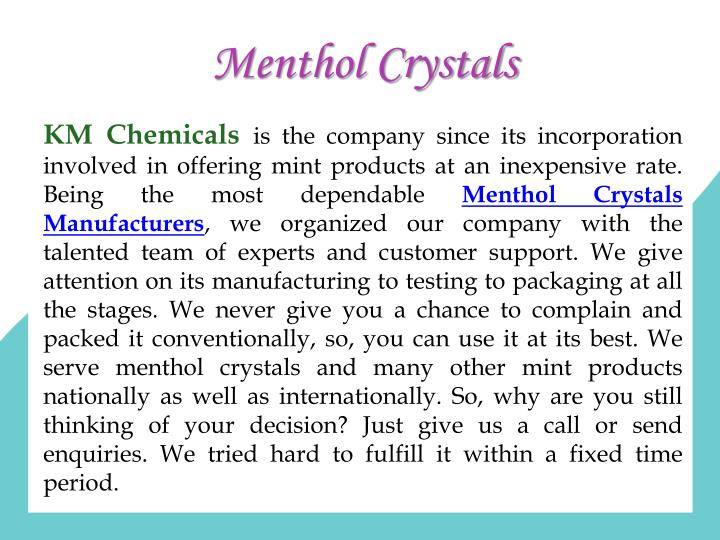 Menthol Crystals
