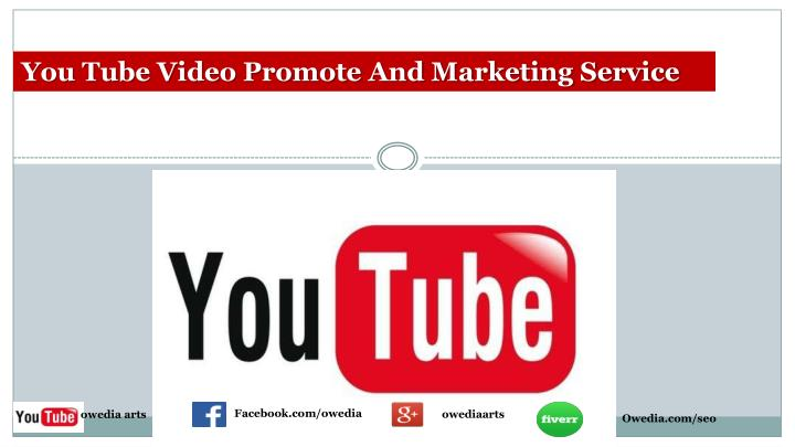 You Tube Video Promote And Marketing Service