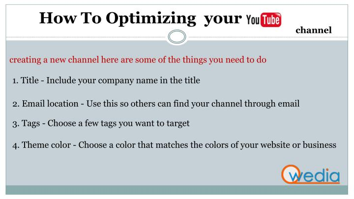 How To Optimizing  your