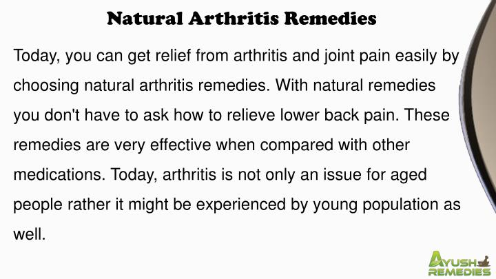 Natural Arthritis Remedies