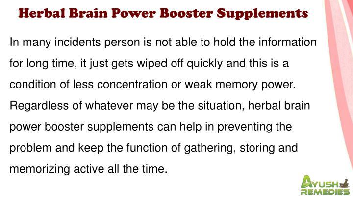 Herbal Brain Power Booster Supplements