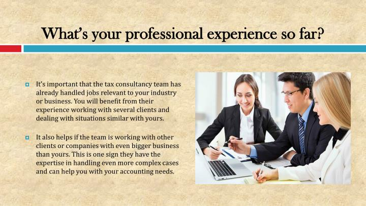 What's your professional experience so far?