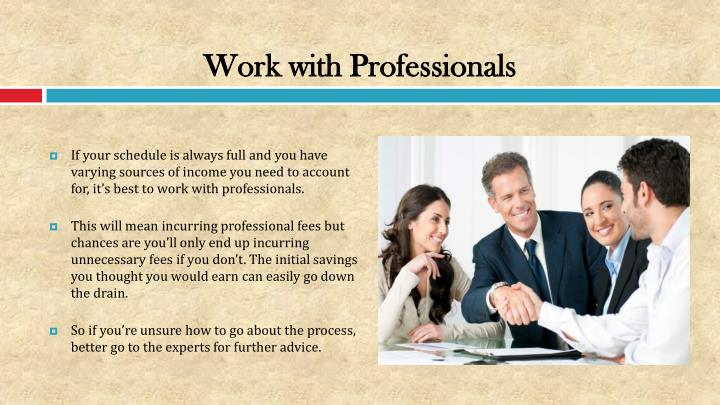 Work with Professionals