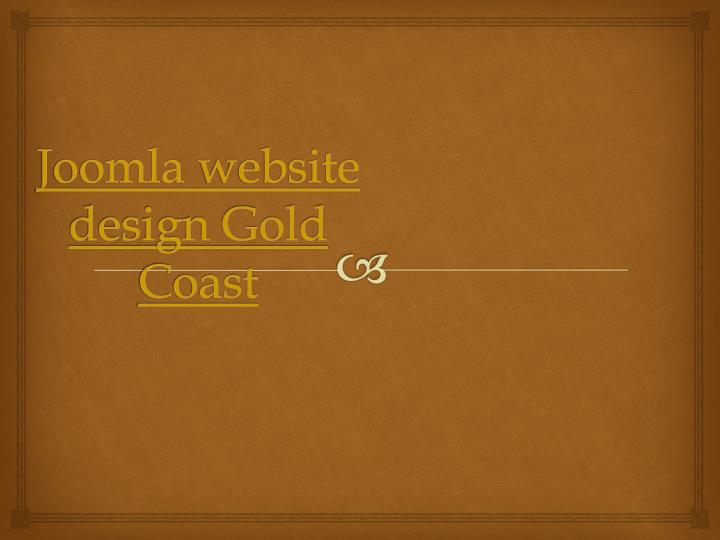 Joomla website design gold coast