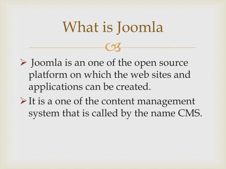 What is joomla