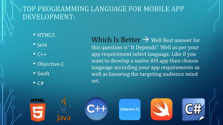 Top Programming Language for mobile app development