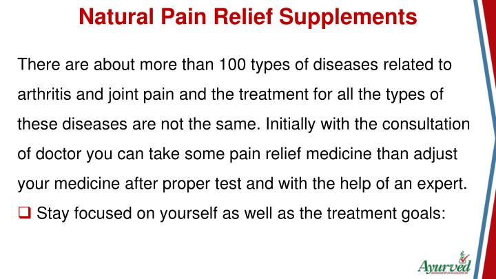 Natural Pain Relief Supplements