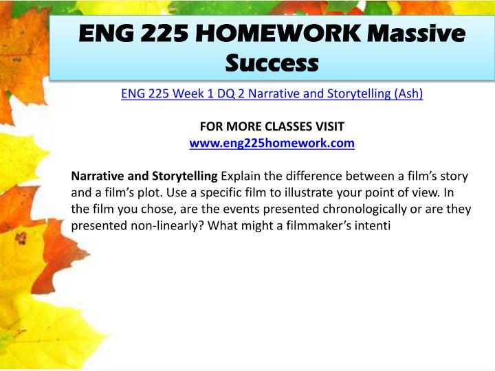 ENG 225 HOMEWORK Massive Success
