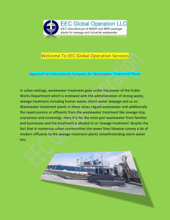 Welcome To EEC Global Operation Services