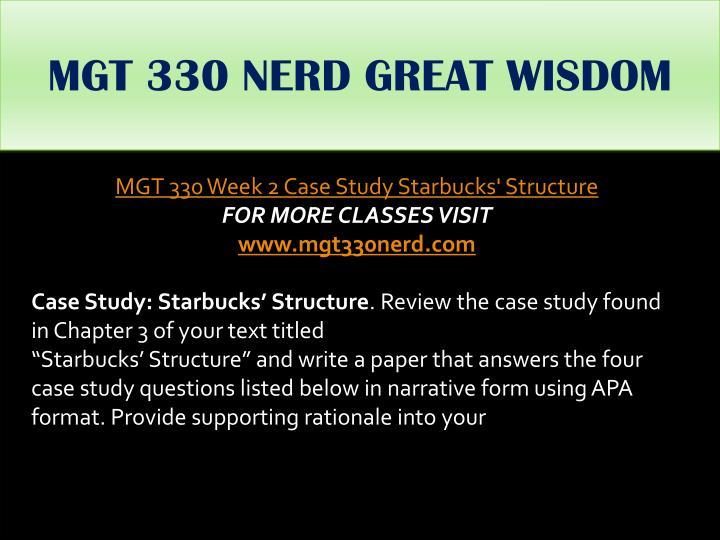 MGT 330 NERD GREAT WISDOM