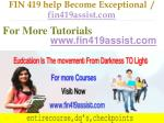 fin 419 help become exceptional fin419assist com17