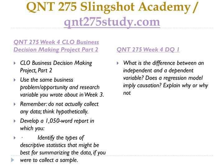 QNT 275 Slingshot Academy /