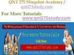 qnt 275 slingshot academy qnt275study com15