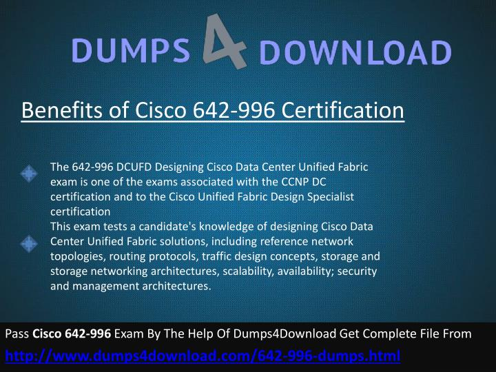 Benefits of Cisco 642-996 Certification