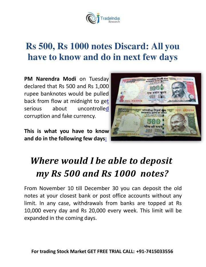 Rs 500 rs 1000 notes discard all you have to know and do in next few days