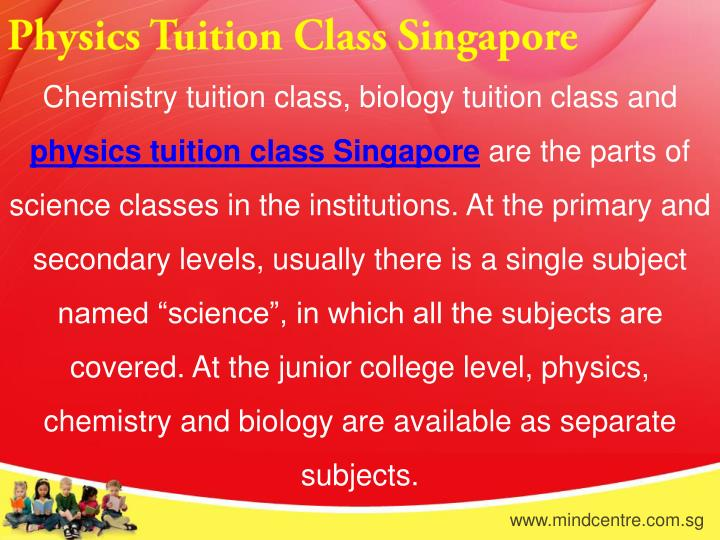 Physics Tuition Class Singapore