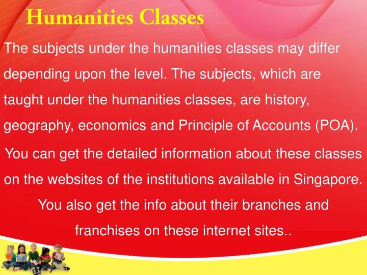 Humanities Classes