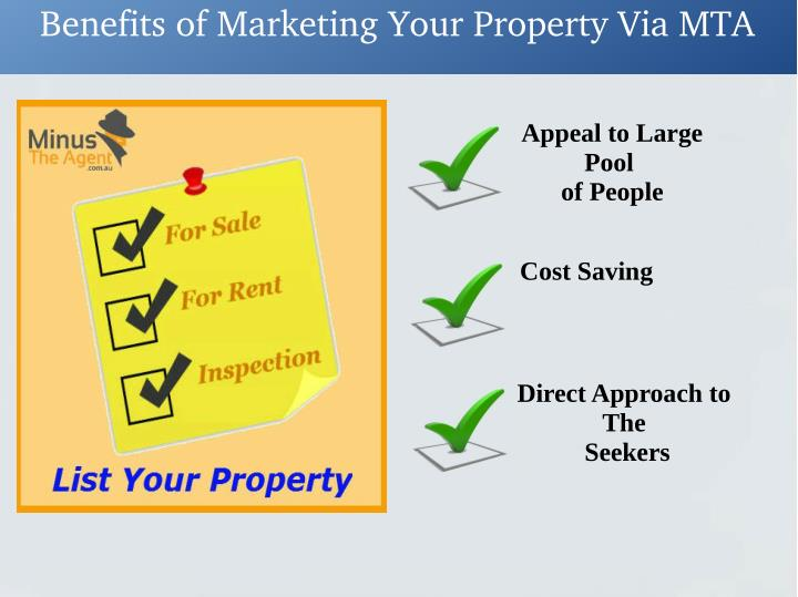 Benefits of Marketing Your Property Via MTA