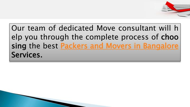 Our team of dedicated Move consultant will help you through the complete process of