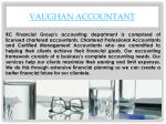 vaughan accountant