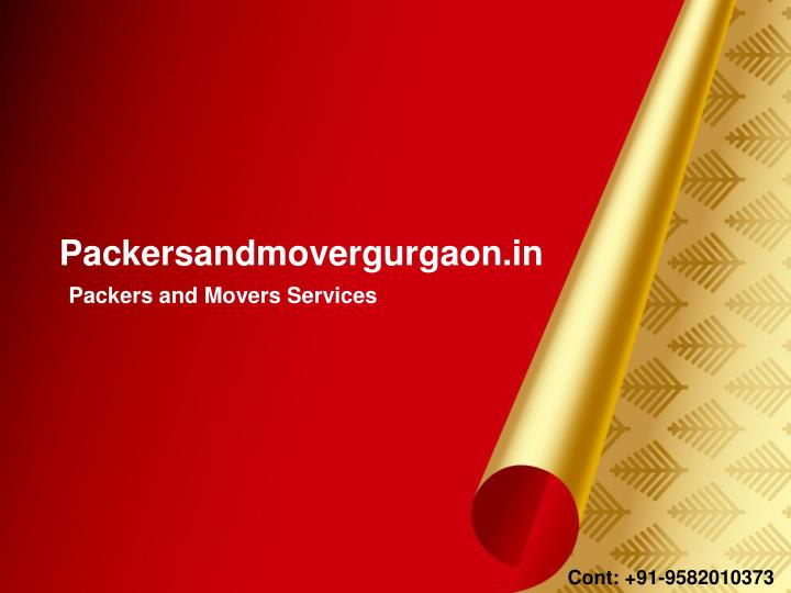 Packersandmovergurgaon.in