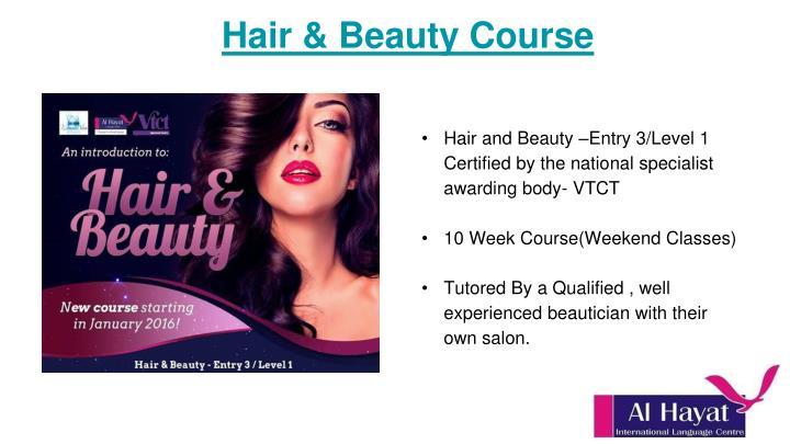 Hair & Beauty Course