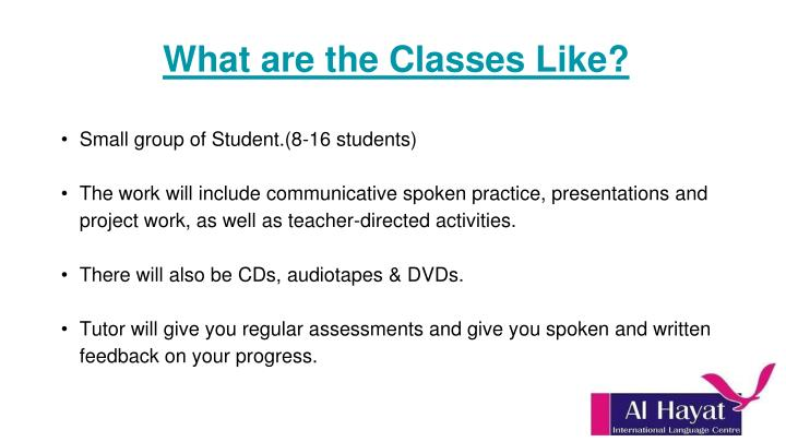 What are the Classes Like?