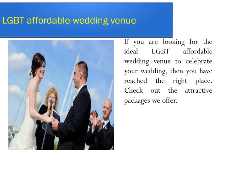 LGBT affordable wedding venue