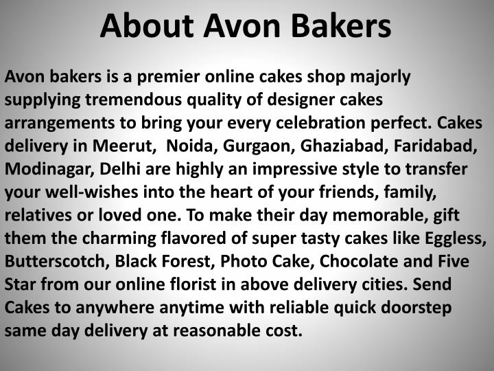 About Avon Bakers